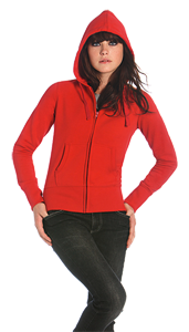 B&C Ladies Hooded Full Zip